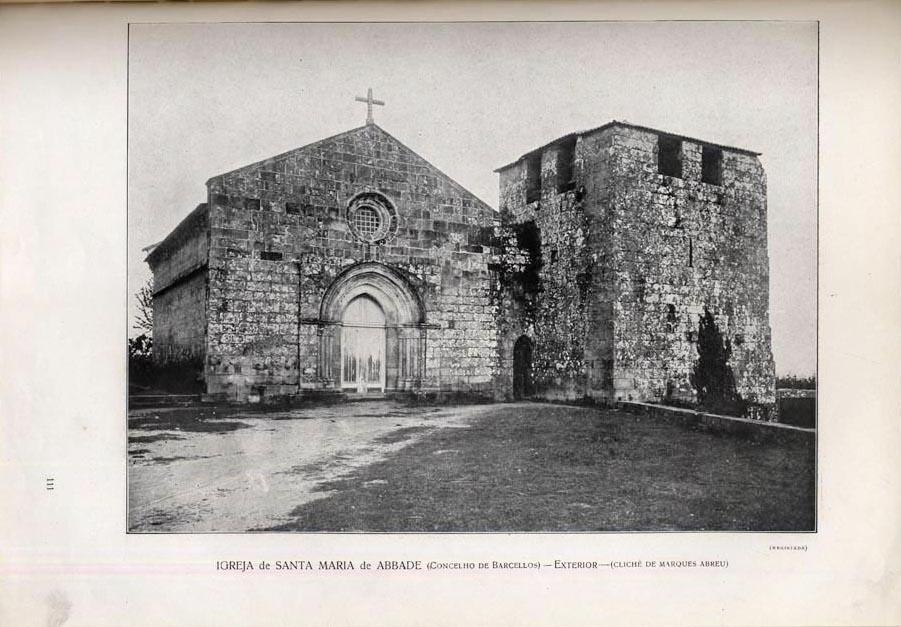Igreja de Santa Maria de Abade de Neiva  - A fachada Principal antes das obras